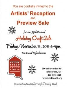 BCC 39th Annual Artists Reception and Holiday Craft Sale 2014