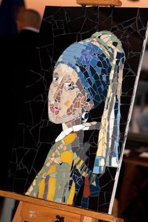 Mosaic Girl  with a Pearl Earring