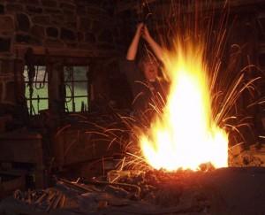 Blacksmithing at Brookfield Craft Center