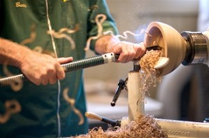 Woodturning at Brookfield Craft Center