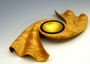 """Turned wood by Keith Tompkins at """"A Legacy of Fine Craft,"""" Brookfield Craft Center's 2011 Faculty Exhibition"""